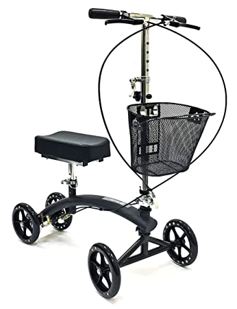 Amazon Com Bodymed Folding Knee Walker With Dual Braking System And