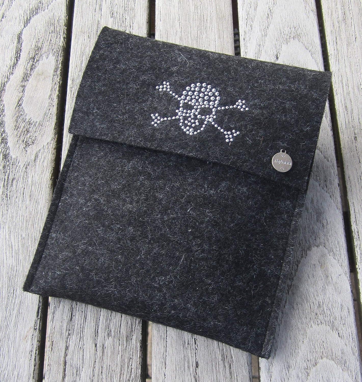 zigbaxx eReader HüllE DARK ZONE Case Sleeve Filz u.a. für Kindle Paperwhite 2017, Kindle Oasis Voyage HD 6 - Schutzhülle aus 100% Wollfilz pink schwarz beige grau braun Geschenk Weihnachten Geburtstag