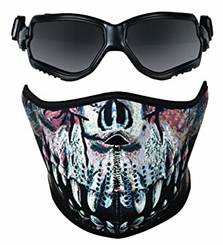 Airsoft Gafas ForceFlex Crosman Elite y neopreno depredador impresión media máscara
