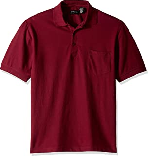 UltraClub Mens Whisper Pique Blend Polo Shirt with Pocket 8544