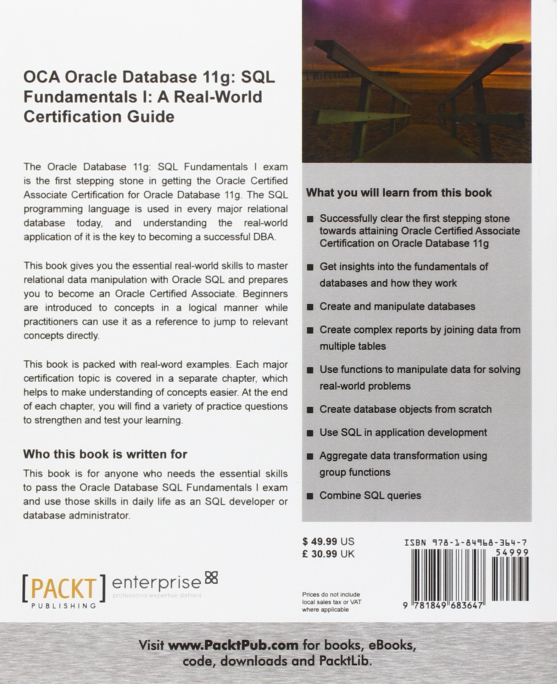 Oca oracle database 11g sql fundamentals i a real world oca oracle database 11g sql fundamentals i a real world certification guide 1zo 051 steve ries 9781849683647 amazon books 1betcityfo Gallery