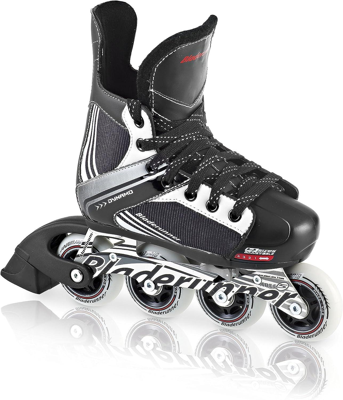 Inline Skates Black and Red Rollerblade Bladerunner Dynamo Jr Size Adjustable Hockey Inline Skate
