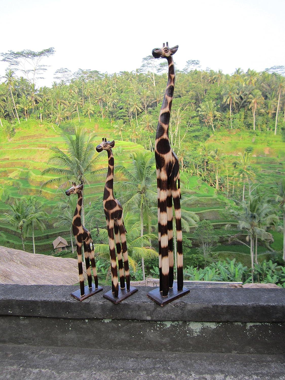 3 piece Set 100cm 40cm 20cm wooden wood Giraffe Girafe Giraffes Africa Style GH