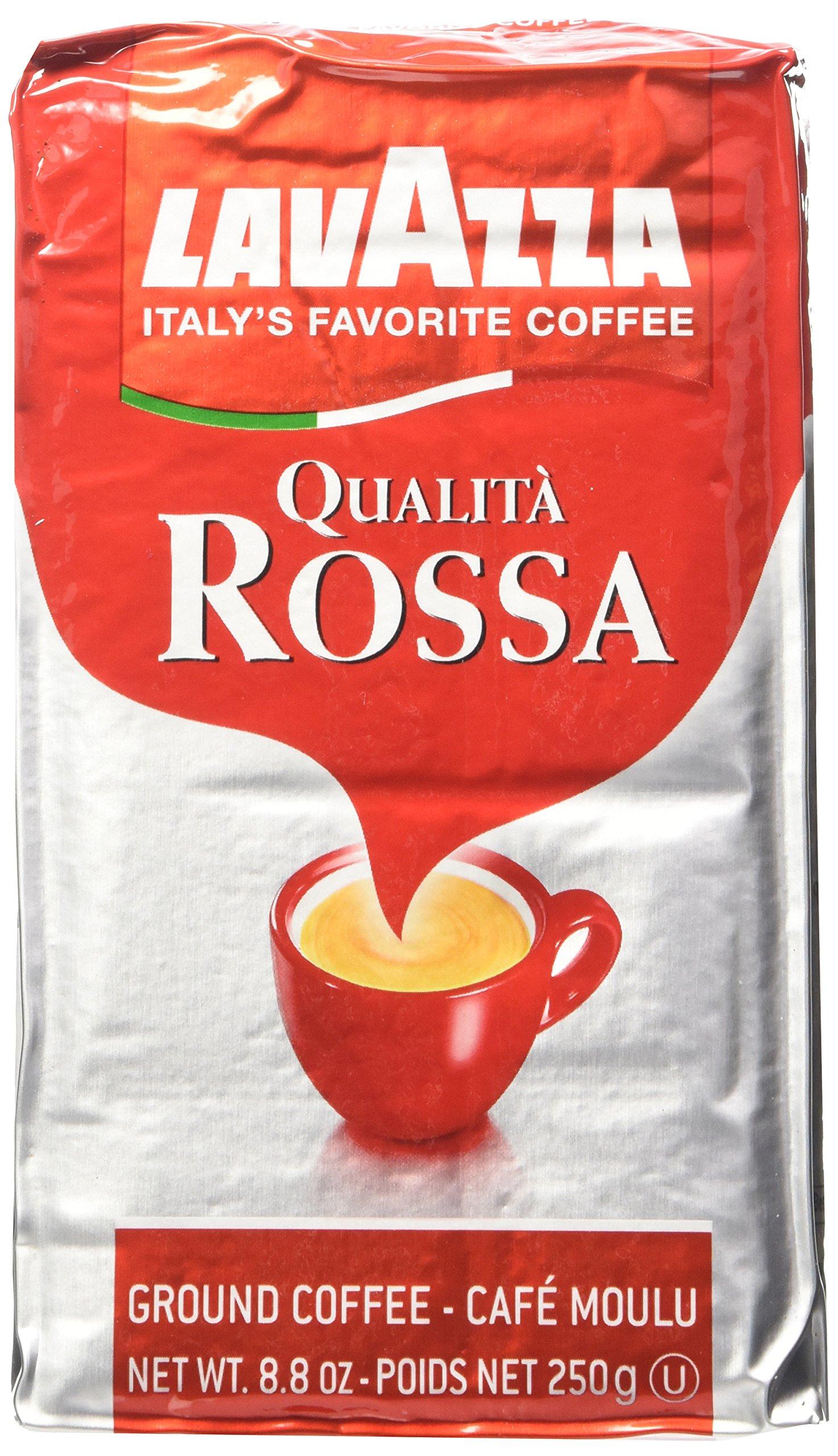 Lavazza Italian ''Qualita Rossa'' Ground Espresso (1 case = 20 x 8.8 oz bricks)