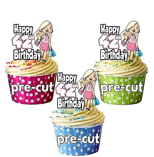 PRECUT- Bolso de compras para niña de 42 cumpleaños, diseño ...
