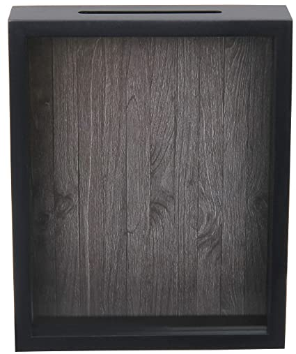 Shadow Box Display Case U2013 Top Loading Black Wood Frame   Showcase Bottle  Caps, Shells