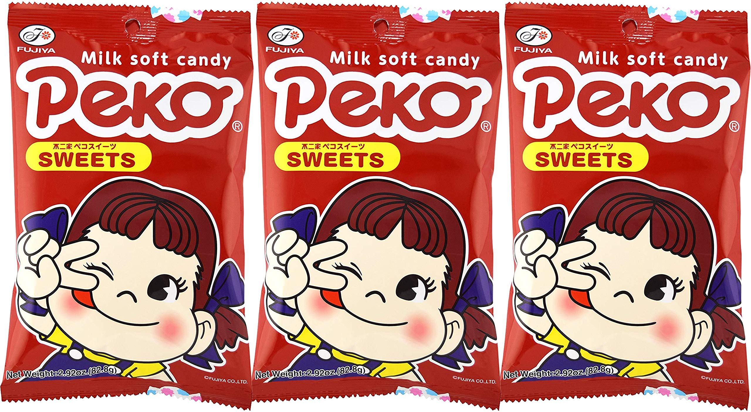 Fujiya Peko Sweets 2.92oz (3 Pack) by Fujiya