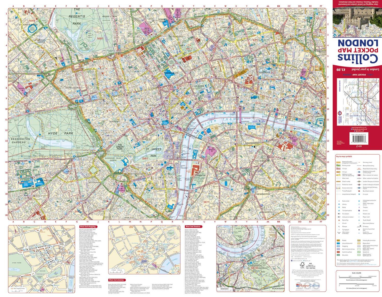 Map F London.Collins Pocket Map London Collins Uk 9780008214173 Amazon Com Books