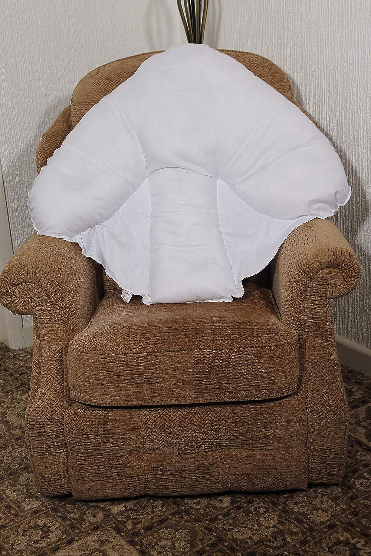 Batwing Back Pillow Padded Fluffy Orthopaedic Teddybear Sofa Armchair Cushion
