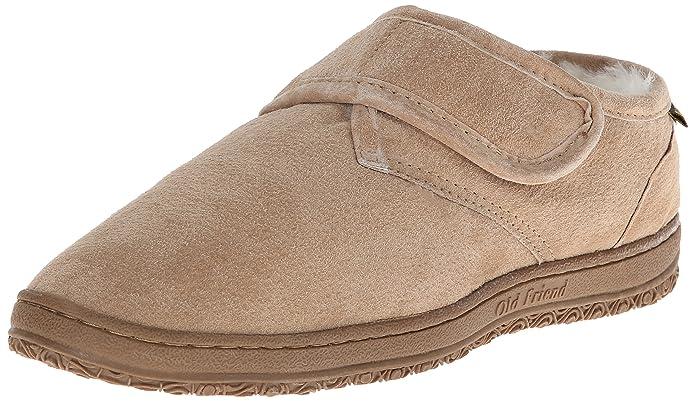 5870bf84a Amazon.com | Old Friend Men's Adjustable Strap Slipper | Slippers