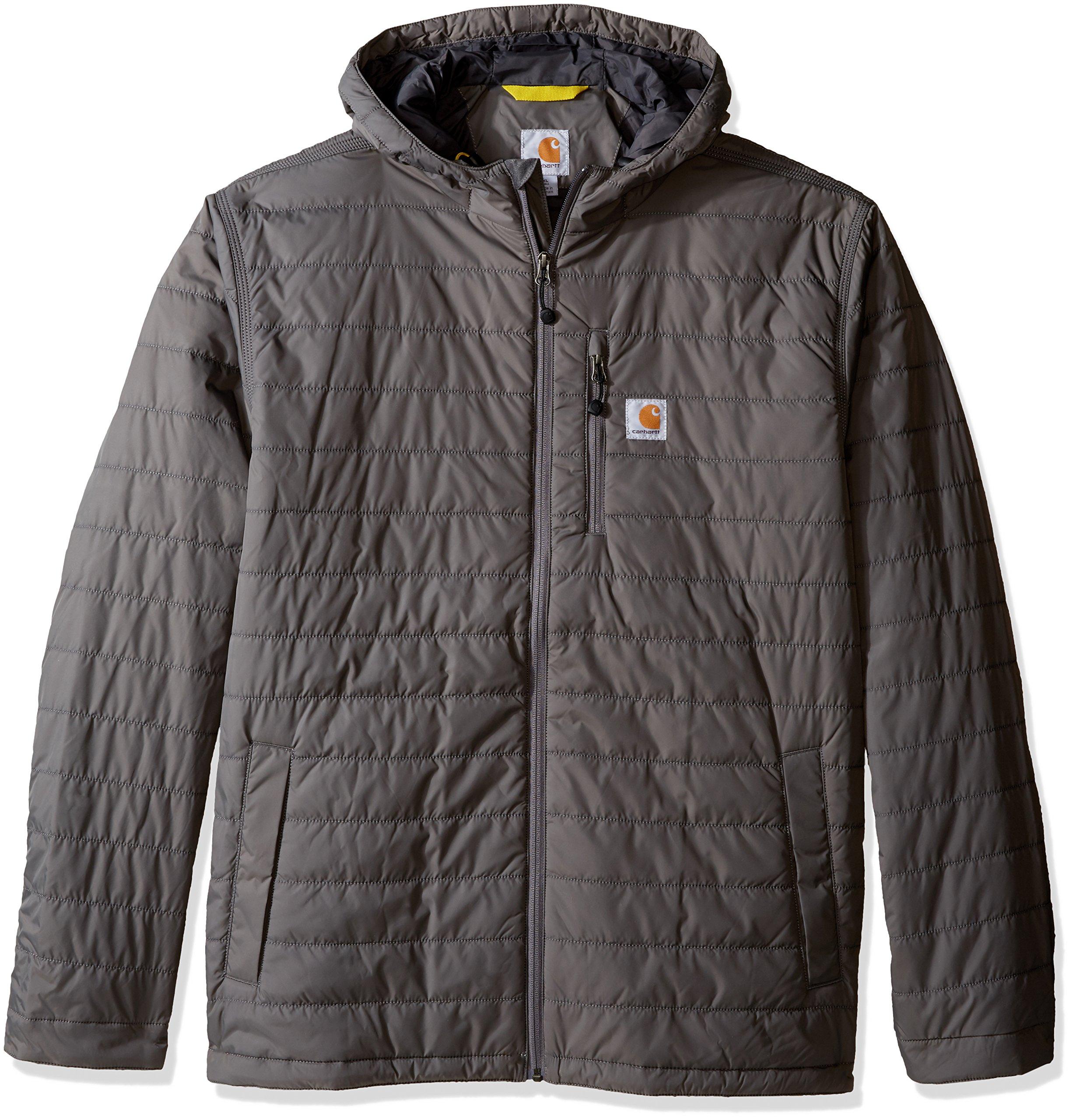 Carhartt Men's Big & Tall Gilliam Hooded Jacket, Gravel, X-Large/Tall by Carhartt