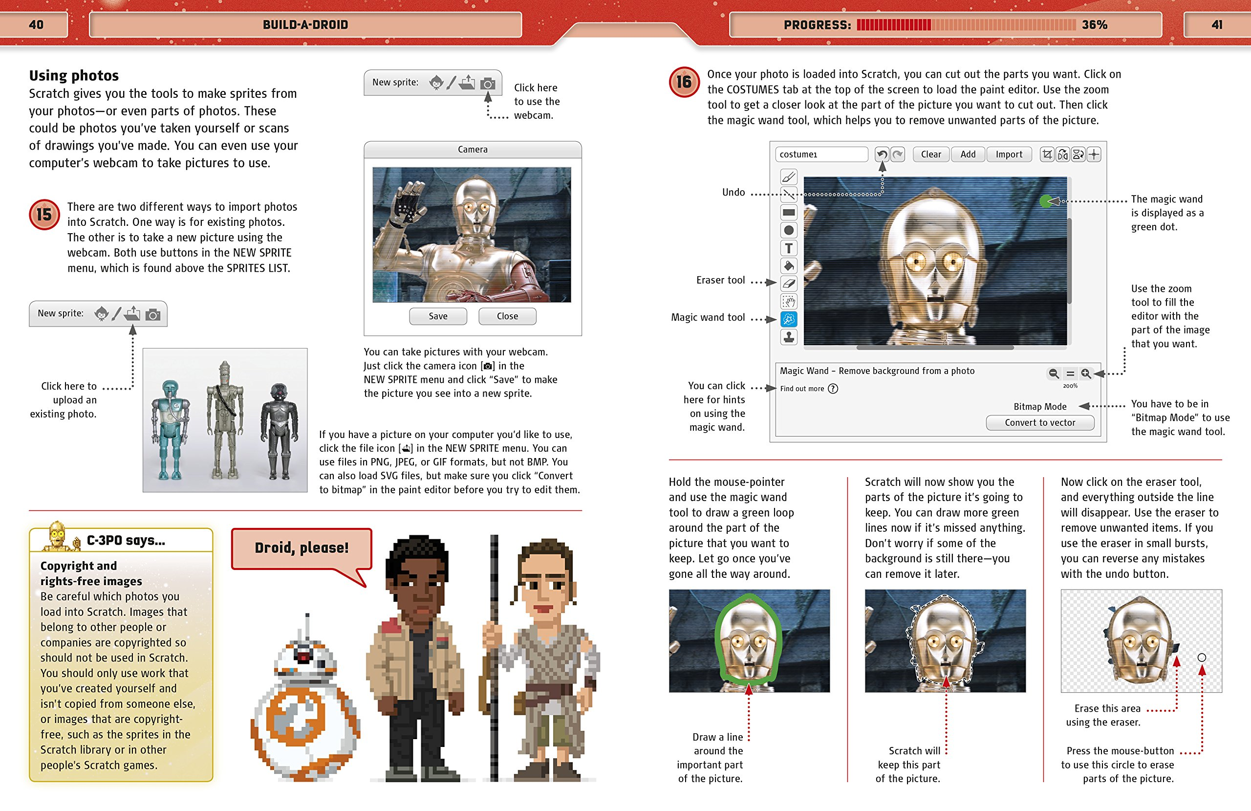 Star Wars Coding Projects: A Step-by-Step Visual Guide to Coding Your Own Animations, Games, Simulations an by DK Children (Image #7)