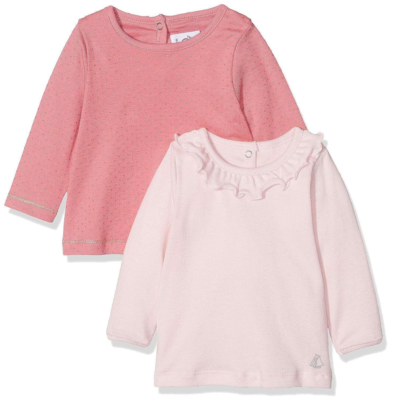 Petit Bateau Baby-M/ädchen Langarmshirt per of 2