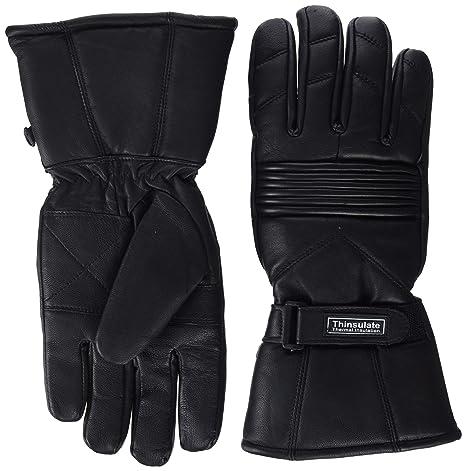 Herren Thermo Handschuhe Leder Wasserdicht Innenfutter Für Motorrad & Winter Thinsulate M