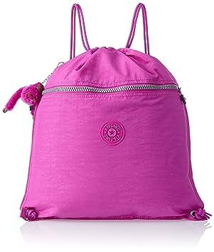 Kipling Supertaboo K0948713K - Mochila de tipo saco con cuerdas ajustables, color rosa: Amazon.es: Equipaje