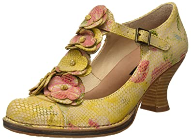 Neosens Women's S868 Fantasy Rococo Shoes with Vertical Strip, (Floral )