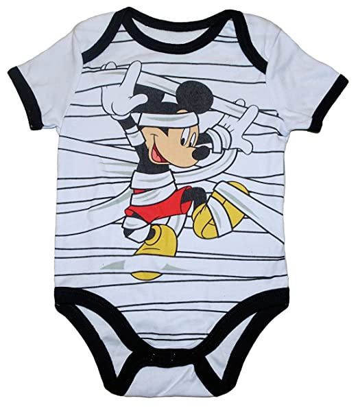 037d6fa9a717 Amazon.com  Disney Infant Boys Mickey Mouse Halloween Creeper Mummy ...