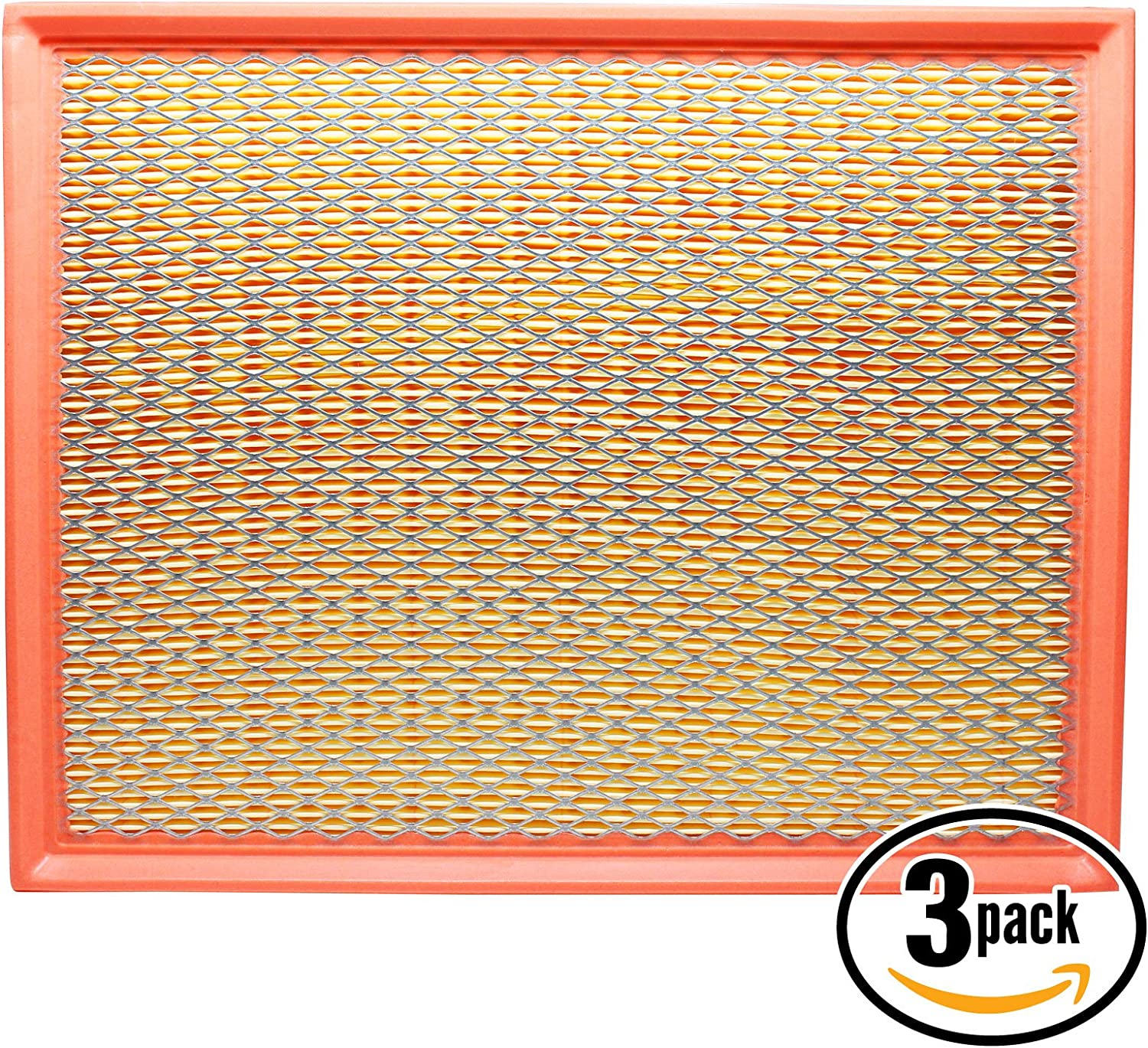 Flexible Panel Filter ACA-8755A 6-Pack Replacement Engine Air Filter for 2003 GMC Sierra 2500 HD V8 6.6 Car//Automotive