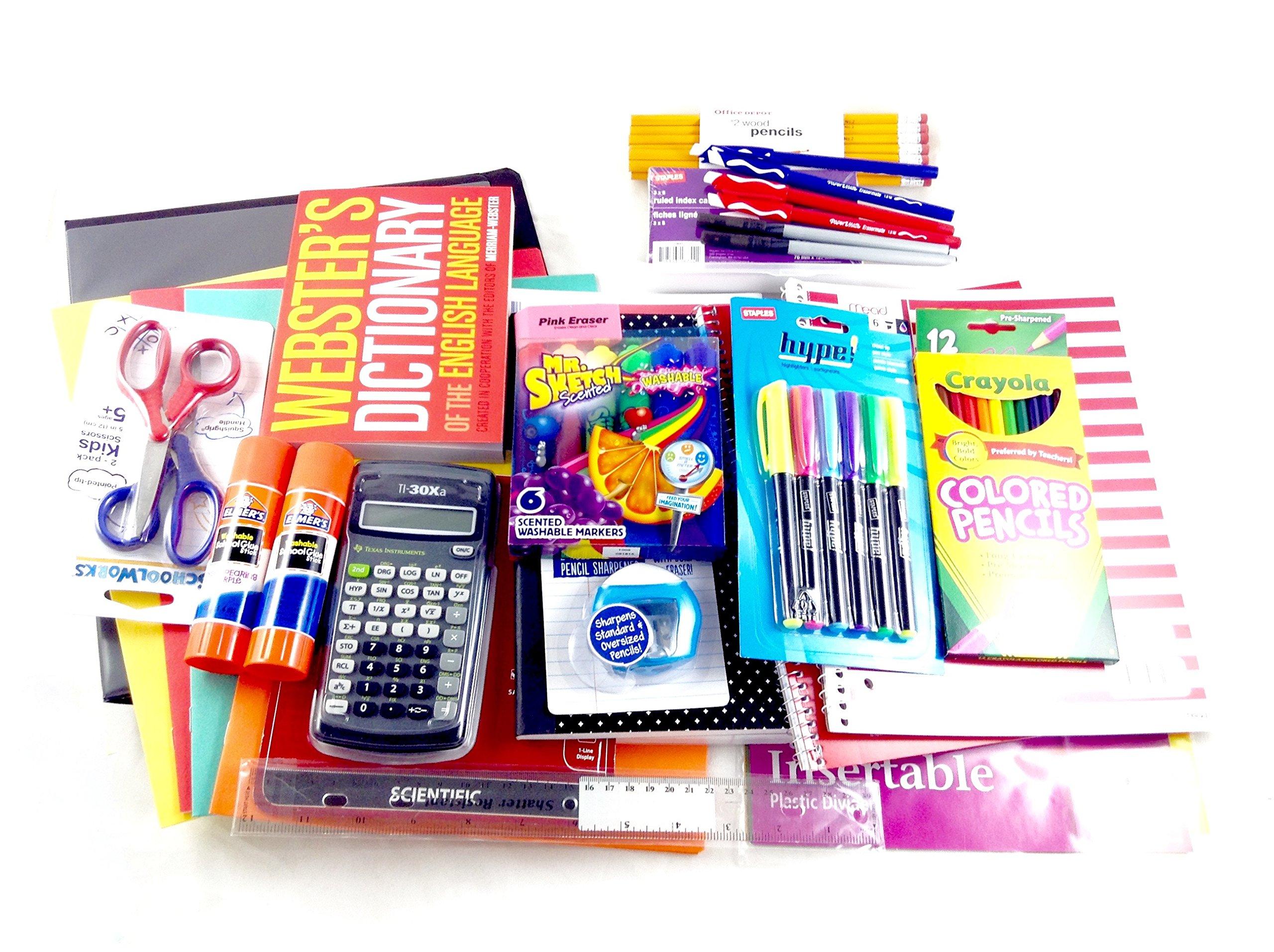 Fourth to Sixth Grade School Supplies Bundle