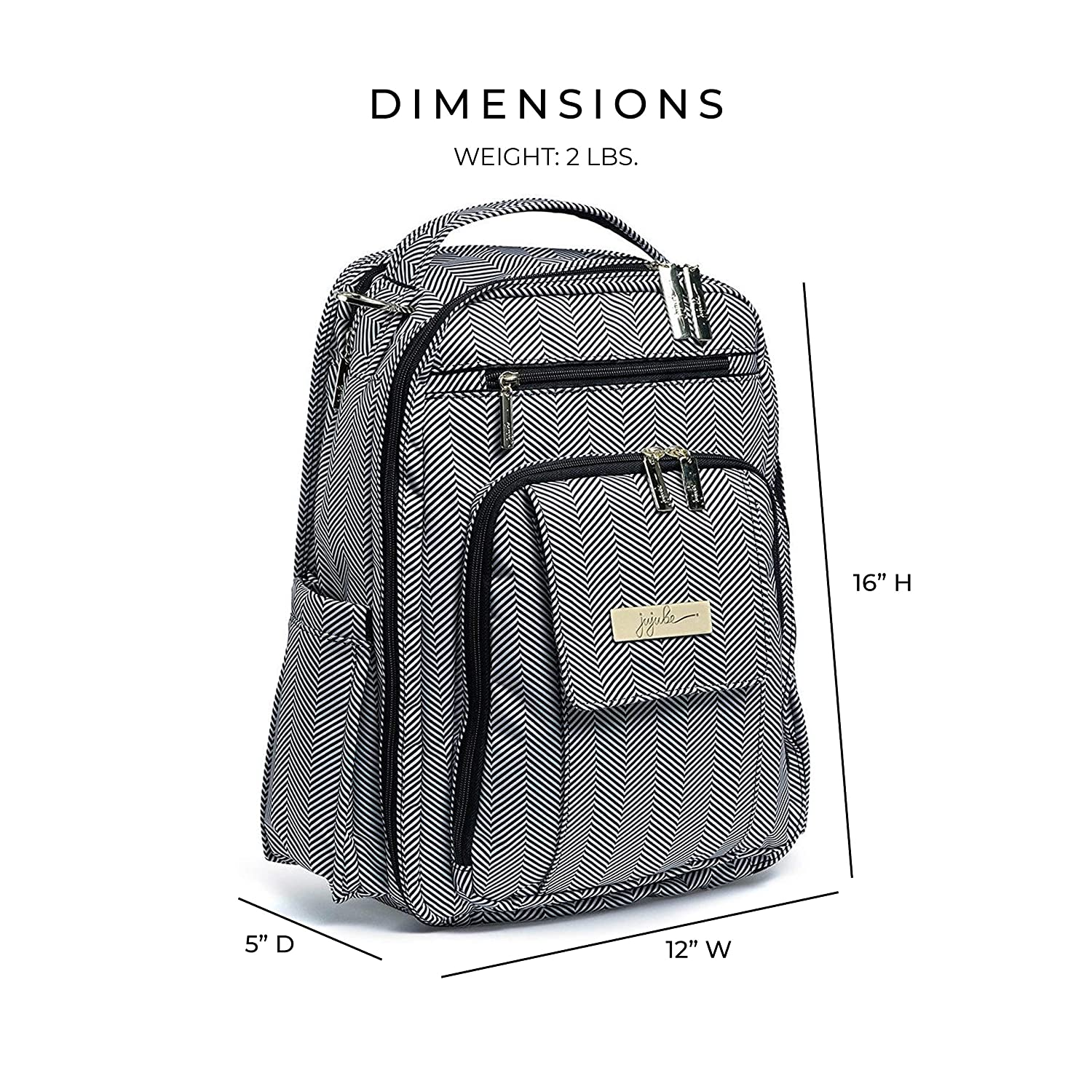 Amazon.com   JuJuBe Be Right Back Multi-Functional Structured Backpack Diaper  Bag 45359bad86bb4