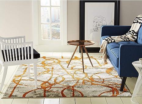 Home Dynamix 4714 253 Trina Trina Turk Tanja Cecilia Modern Area Rug 5 2 X7 2 Geometric Orange Gray Furniture Decor