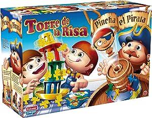 Falomir Pincha Pirata + Torre Risa Mesa. Juego de Habilidades. (32-7777): Amazon.es: Juguetes y juegos