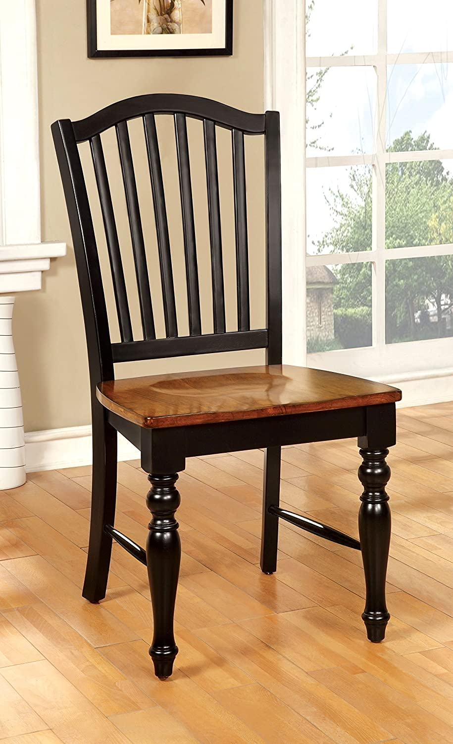 Furniture of America Antha Dining Chair, Black