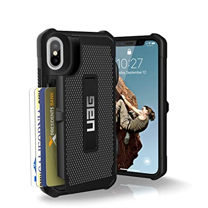 finest selection 59988 4f8c5 Urban Armor Gear UAG iPhone X Trooper Feather-Light Rugged Card Case  [BLACK] Military Drop Tested iPhone Case