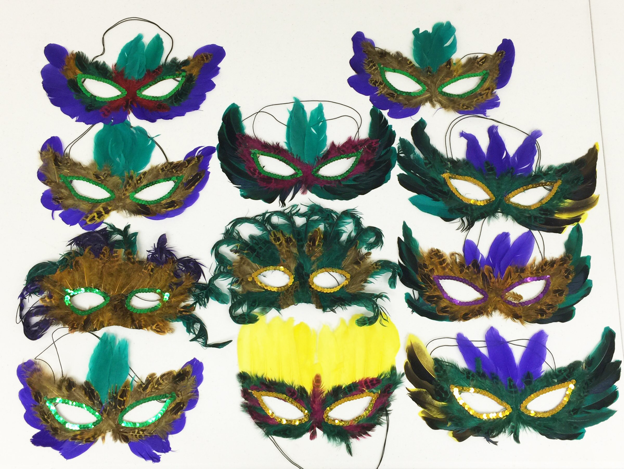 GIFTEXPRESS Mardi Gras Masks Perfect for Mardi Gras party/Masquerade themed party/fat Tuesday/Wedding reception/Anniversary part/Musical Cinderella/photo booth accessory/costume mask by GiftExpress