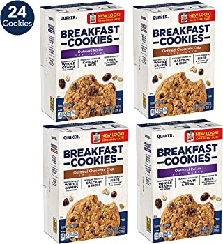 24-Count Quaker Oatmeal Raisin and Oatmeal Chocolate Chip Cookies