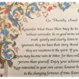 Brand - Medici Style - Desiderata Quote by Max Ehrmann on Handmade Florentine Paper with 24k Gold Leaf (Imported from Italy)