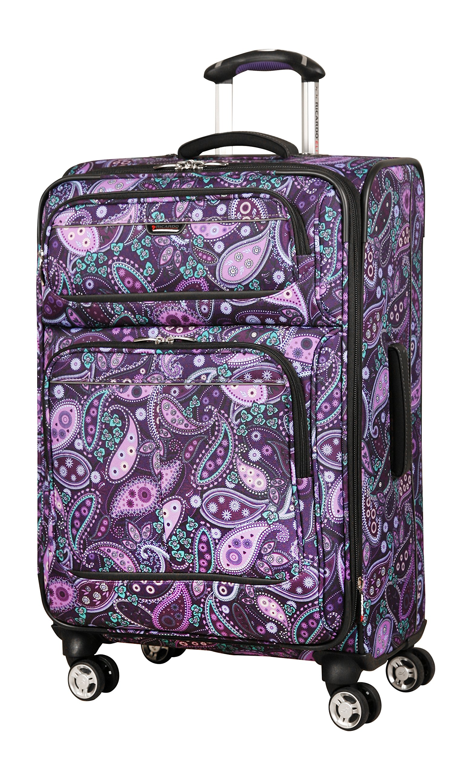 Ricardo Beverly Hills Mar Vista 24-Inch 4 Wheel Expandable Upright, Purple Paisley, One Size by Ricardo Beverly Hills