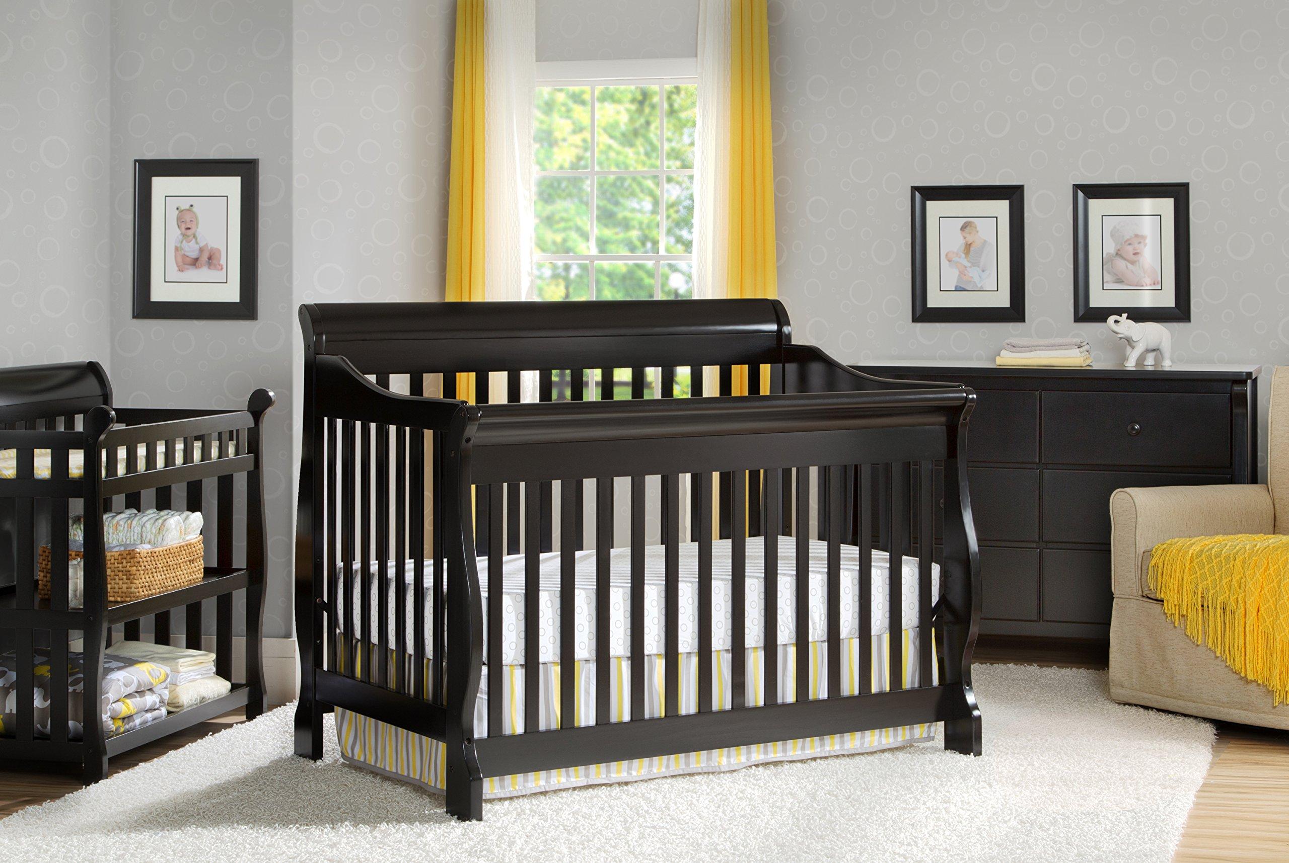 Delta Children Canton 4-in-1 Convertible Crib, Black