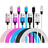 iPhone Cable,5Pack 3FT Charging Cord - Nylon Braided USB Lightning Charger for iPhone 8, X,7,SE,5,5s,6,6s,6 Plus,iPad,ipod style-1