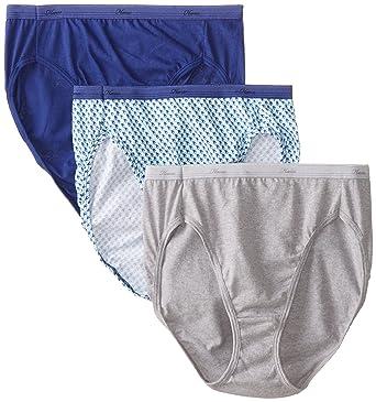 59c01bb45b1d8 Hanes Women s 3Pack Assorted Cotton Hi Cuts Ladies Panties Underwear 6