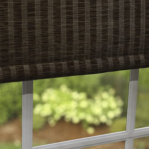 Best Home Fashion Premium Single Roller Window Shade – Chocolate – 33 W x 64 L