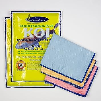 AQUA CLEAN Koi Mikrofaser Tuch Spezialfaser, zum Reinigen Trocknen  Polieren, Set 6-teilig