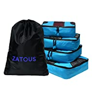 Packing Cubes Travel Organizer Mesh Bags Value Set for Durable Weekender Set (5pcs-blue)