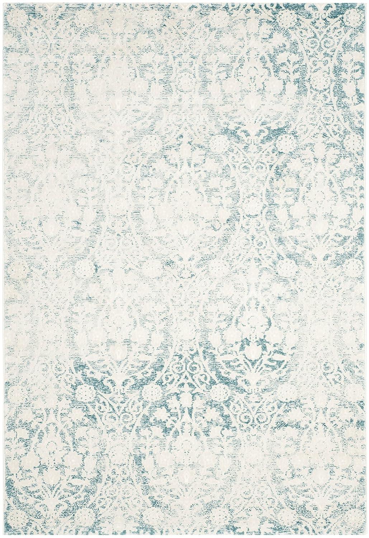 Safavieh Bettine gewebter Teppich, PAS403B, Türkis   Elfenbein, 121 X 170  cm