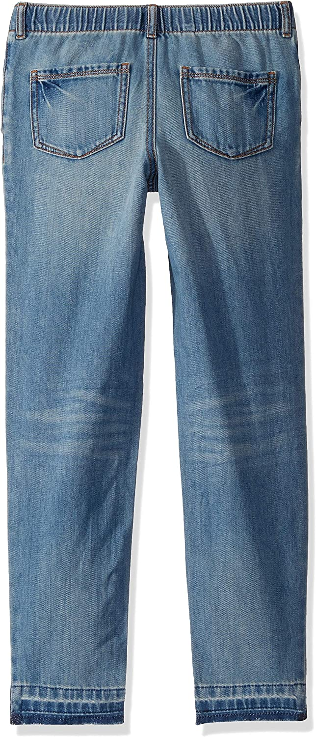 Tommy Hilfiger Girls Adaptive Wide Leg Jeans with Elastic and Drawstring Waist