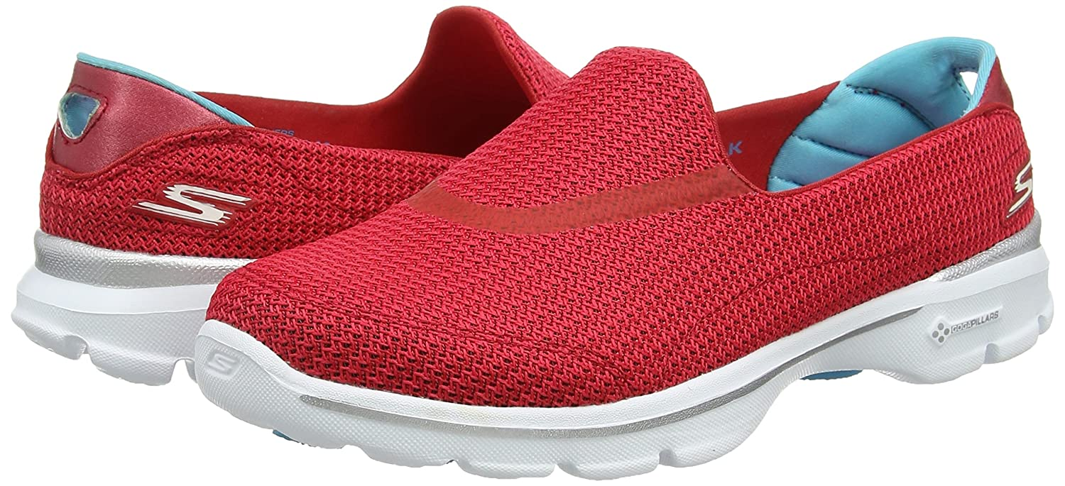 Skechers 3 Performance Women's Go Walk 3 Skechers Slip-On Walking Shoe B00S6XAD0U 6.5 B(M) US|Red e67841