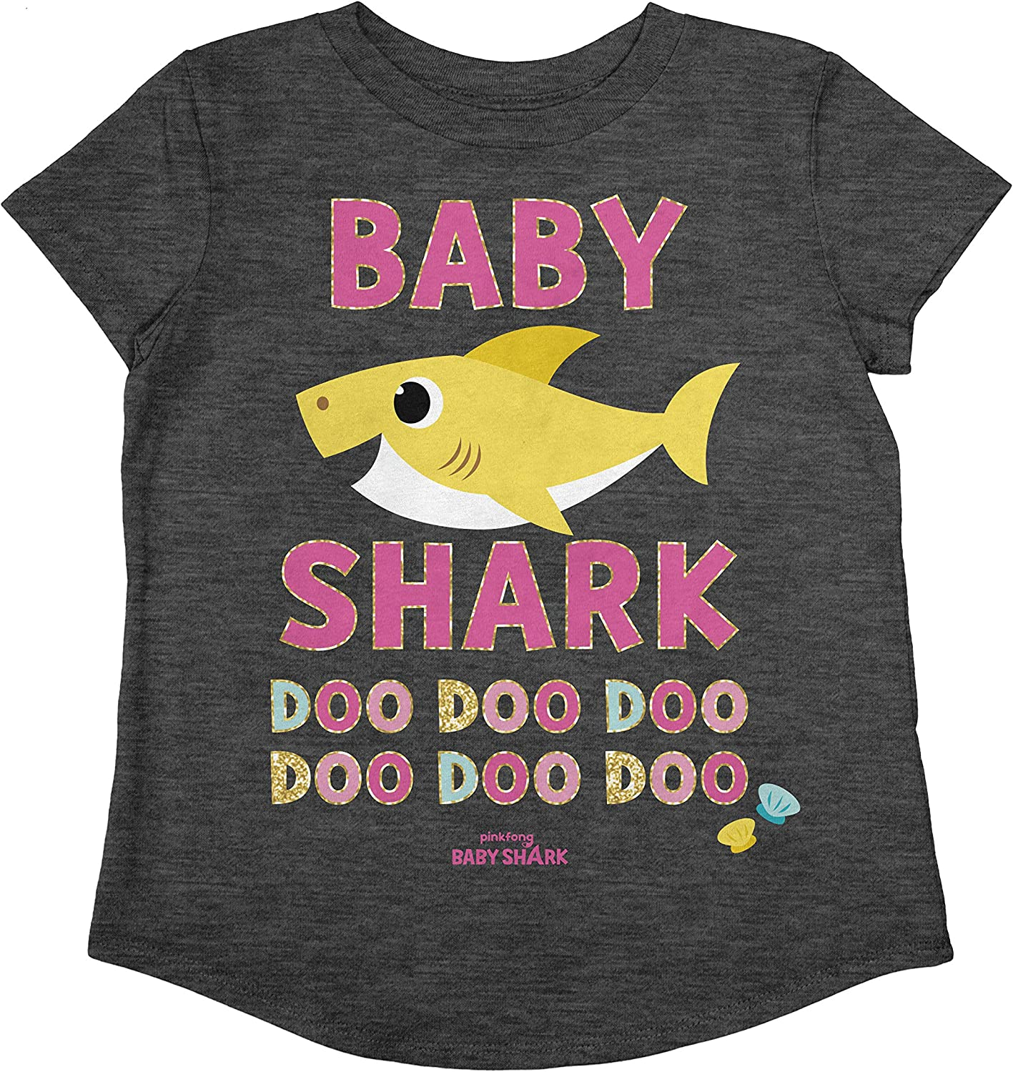 Jumping Beans Toddler Girls Baby Shark Happy SS Tee