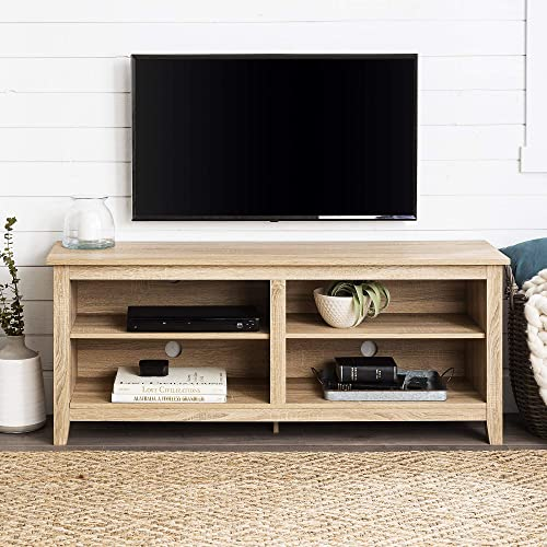 Home Accent Furnishings Millie Modern 58 in Tv Console in Natural Finish