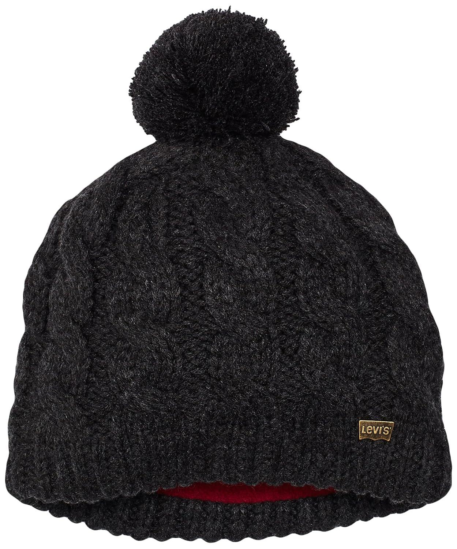 Levis Kids Boy s Heat Huber Hat, Grau (Ebony 28), 152 (Manufacturer size   56CM)  Amazon.co.uk  Clothing caa93c2a948