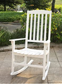 Cambridge Casual AMZ 130818W Bentley Porch Rocker, White