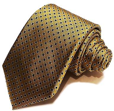 Corbata de nudo grande - Oro con pequeños puntos azules - Franklin ...