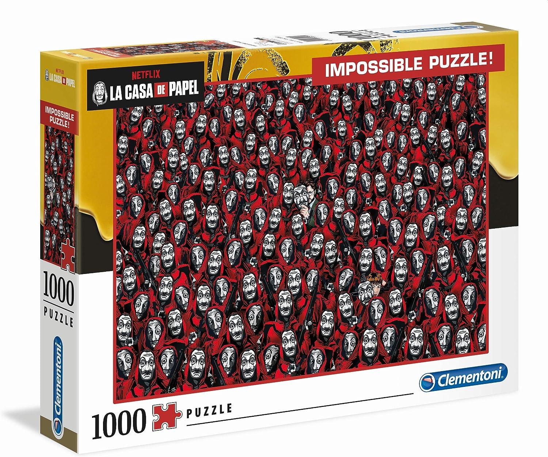 Clementoni- Puzzle 1000 Piezas Impossible La Casa de Papel (39527.9): Amazon.es: Juguetes y juegos
