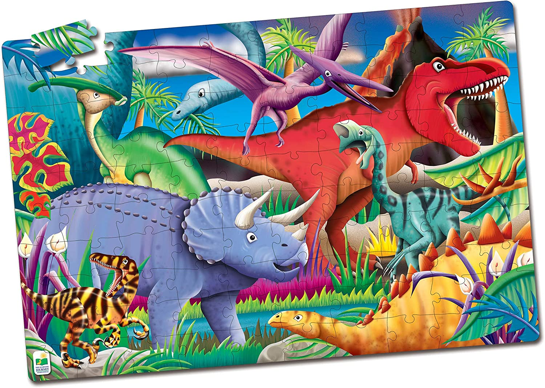46 Piece GLOW Dino Dinosaur Floor Puzzle Educational Giant 2ft Jigsaw Kids NEW