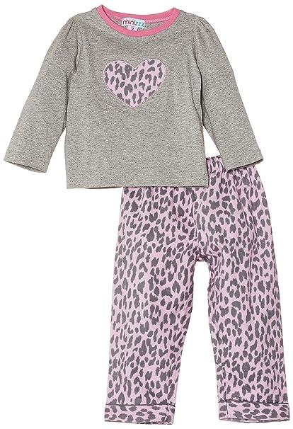Mini ZZZ - Pijama con estampado de animales para niña, color rosa, talla 4