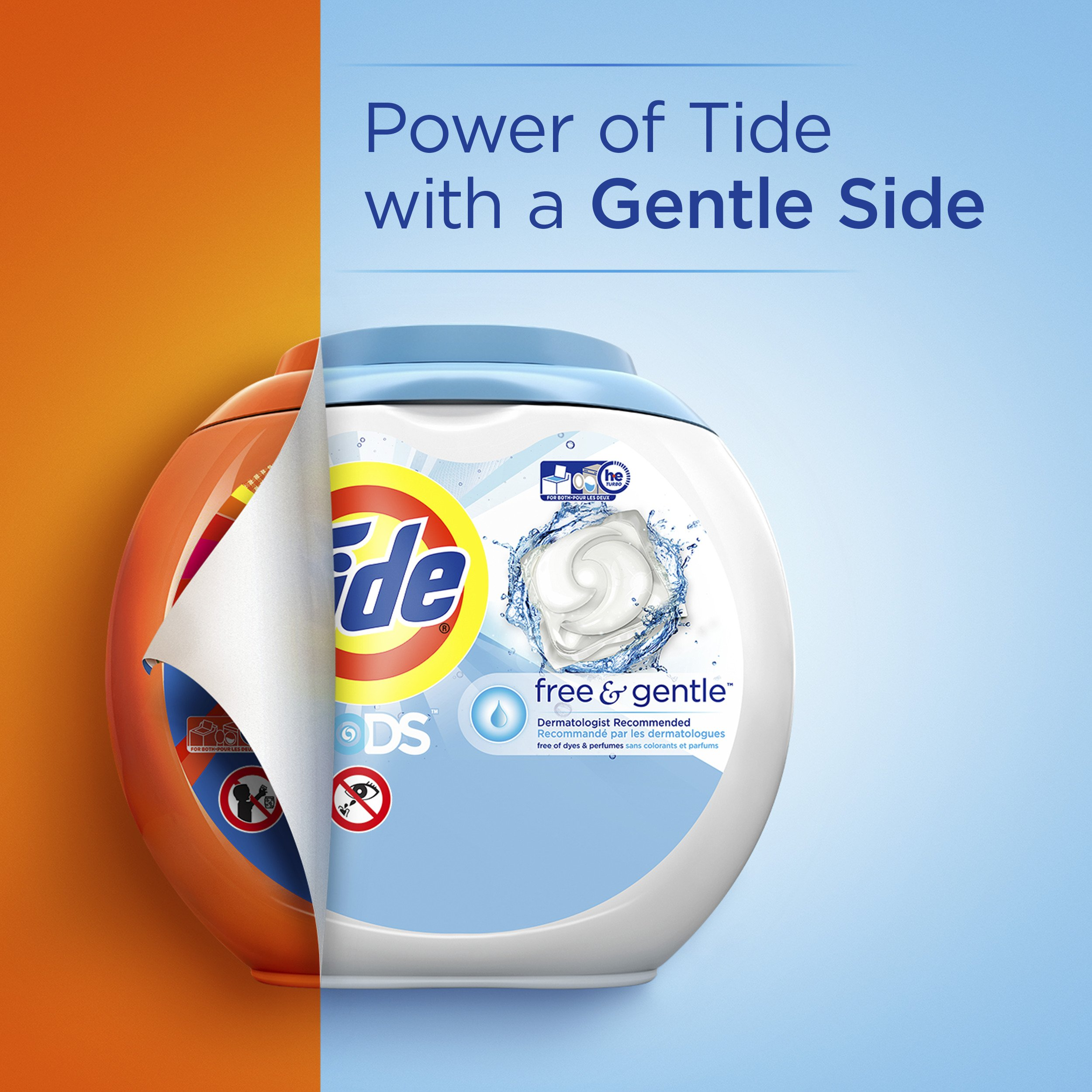 Tide Free and Gentle Laundry Detergent Pods, 72 Count, Unscented and Hypoallergenic for Sensitive Skin by Tide (Image #3)